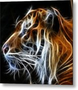 Tiger Fractal Metal Print