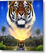 Tiger Of The Lake Metal Print