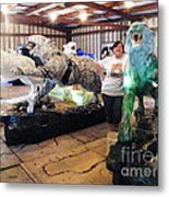 Tiger Project Work Space Metal Print