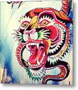 Tiger Snake Metal Print