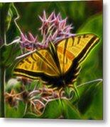 Tiger Swallowtail Digital Art Metal Print