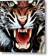 Tiger Watercolour Metal Print