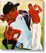 Tiger Woods Metal Print