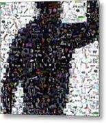 Tiger Woods Fist Pump Mosaic Metal Print