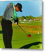 Tiger Woods  - Second Round Of The Honda Classic Metal Print