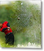 Tiger Woods - The Chevron World Challenge Metal Print