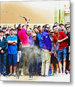 Tiger Woods - The Waste Management Phoenix Open At Tpc Scottsdal Metal Print