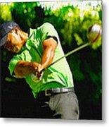 Tiger Woods - Wgc- Cadillac Championship Metal Print