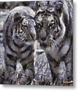 Tigers Photo Art 02 Metal Print