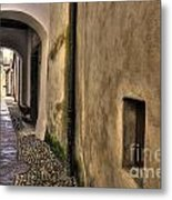 Tight Alley With Arch Metal Print