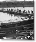 Tigris River Bridge Metal Print