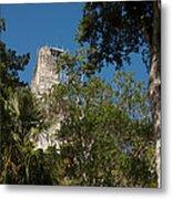 Tikal Pyramid 4a Metal Print