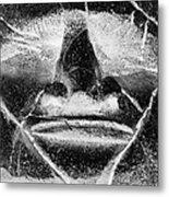 Tiki Mask Negative Metal Print