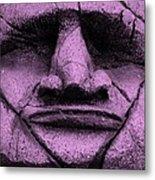 Tiki Mask Pink Metal Print