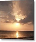 Tiki Sunset 1 Metal Print