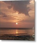 Tiki Sunset 2 Metal Print