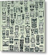 Tiki Treasure Zone Metal Print