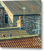 Tile Roofs - Thirsk England Metal Print