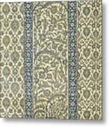 Tiled Panel From Mosque Of Ibrahym Agha From Arab Art As Seen Through The Monuments Of Cairo Metal Print