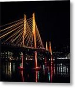 Tilikum Crossing Flooded With Light Metal Print by John Magnet Bell