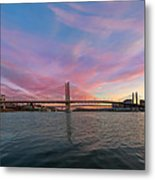 Tilikum Crossing Over Willamette River In Portland Oregon Metal Print