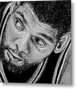 Tim Duncan Drawing The Champ Is Here Metal Print