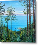 Timber Cove On A Still Summer Day Metal Print
