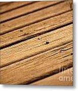 Timber Decking Metal Print