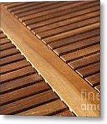 Timber Slats Metal Print