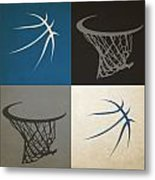 Timberwolves Ball And Hoop Metal Print