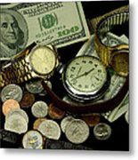 Time And Money Metal Print