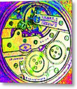 Time In Abstract 20130605m144 Square Metal Print