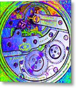 Time In Abstract 20130605m36 Square Metal Print
