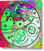 Time In Abstract 20130605m72 Square Metal Print