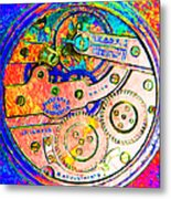 Time In Abstract 20130605p180 Square Metal Print