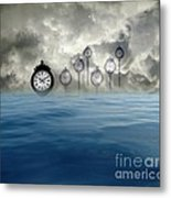 Time Is Floating Metal Print