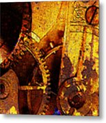 Time Keeps On Slipping Into The Future 20130716 Square Metal Print by Wingsdomain Art and Photography