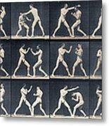 Time Lapse Motion Study Men Boxing Metal Print