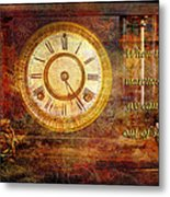 Time Marching Metal Print