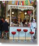 Time Out Snack Bar In Bath England Metal Print