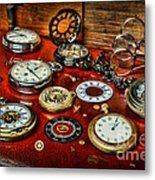 Time - Pocket Watches  Metal Print by Paul Ward