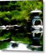 Time Slows For Meditation Metal Print