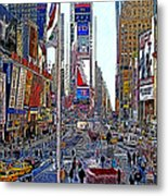 Time Square New York 20130503v5 Metal Print by Wingsdomain Art and Photography