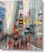 Time Square New York Metal Print
