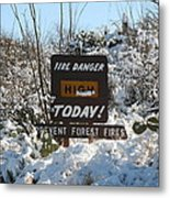 Time To Change The Sign Metal Print