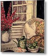 Time To Relax - Within Border Metal Print