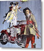 Time Travel With Oldtimer Metal Print