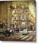 Time Traveling In Palermo - Sicily Metal Print