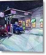 Times Past Gas Station Metal Print
