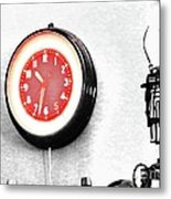 Times Red Metal Print